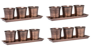 H Potter metal planter set indoor outdoor