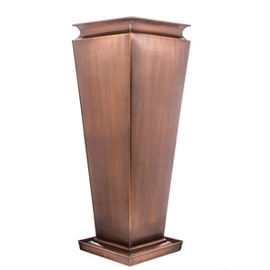 H Potter Large planter tall vertical metal flower pot garden indoor planter herb outdoor wedding deck patio balcony fireplace pool copper drip tray planting insert