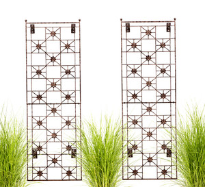 wrought iron wall trellis h potter