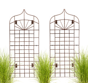 hanging iron garden trellis for outdoor walls H Potter H Potter Wall Trellis trellises metal garden Outdoor Decor screen wrought iron vine ivy pot  rose patio wire tomato wedding planter decoration small vegetable lattice large privacy Moroccan scroll flower tall