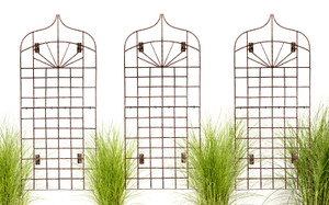 large wall trellis H Potter iron metal outdoor