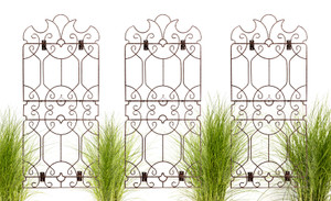 wall trellis art iron from H Potter garden