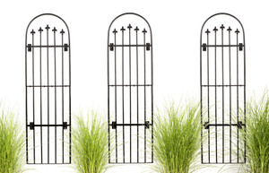 tall iron wall trellis garden outdoor H Potter