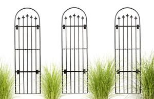 tall iron wall trellis garden outdoor H Potter