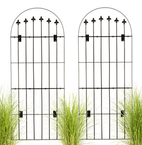 large wall trellis black iron garden H Potter