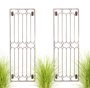 iron wall trellis garden H Potter