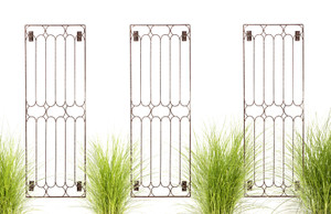 metal iron garden wall trellis