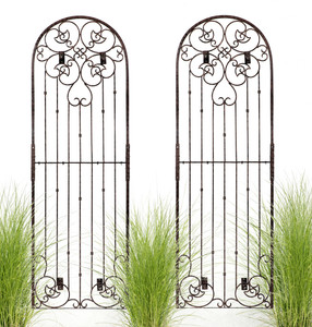 8 foot tall large wall trellis iron metal garden H Potter