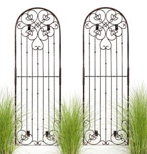 8 foot tall large wall trellis iron metal garden H Potter