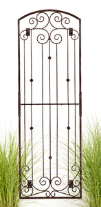 8 foot tall iron wall trellis H Potter
