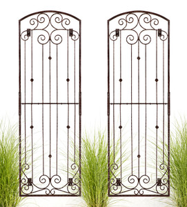 large 8 foot tall iron wall trellis from H Potter garden