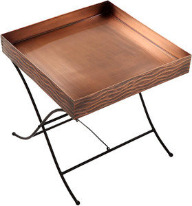 END TABLE SIDE TABLE COPPER BLACK INDOOR OUTDOOR H POTTER
