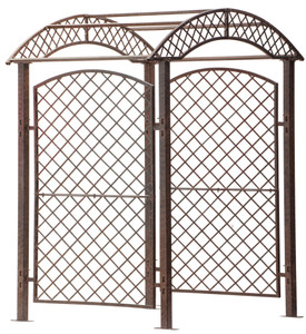metal iron garden trellis screen arbor plant grid