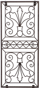 H Potter Flower Trellis Wrought Iron Ornamental Metal Garden