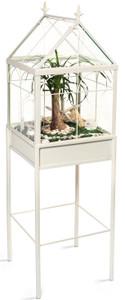 Warehouse Deals H Potter Used Square Freestanding Wardian Case Terrarium HP504W