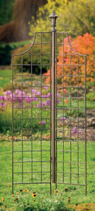 H Potter Two Panel Garden Screen Trellis wrought iron trellis metal scroll garden panel screen vines flower wedding arch h potter outdoor lawn patio deck gift arbor obelisk pot indoor archway yard rustic wall art climbing plants ivy topiary home decor plant planter fence lattice housewarming