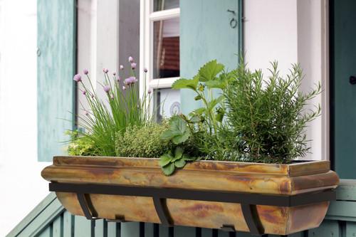 H Potter Rustic Copper Window Box 48 Inch Outdoor Decor