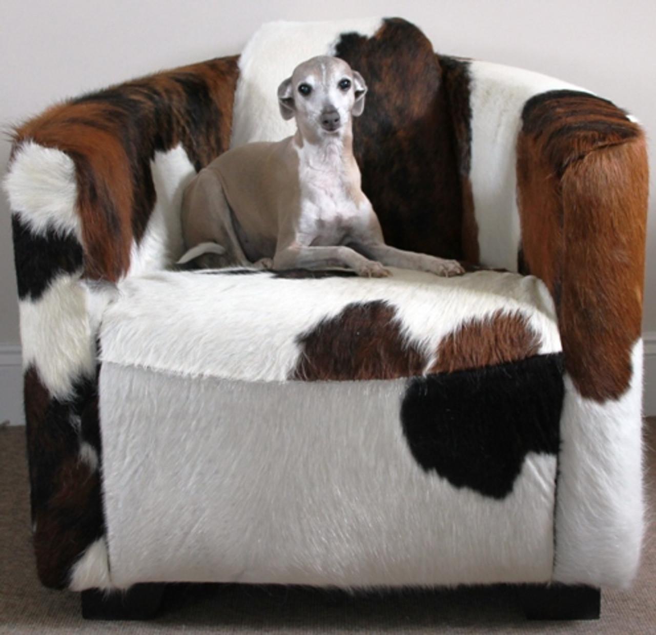 You Choose The Cowhide All Cowhide Hurlingham Club Chair