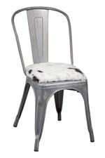 Tricolour cowhide cushion