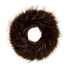 Dark Brown Fox Fur Headband