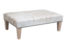 3ft x 2ft Cowhide Footstool FST809