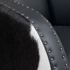 Black and White Cowhide Hurlingham Club Chair