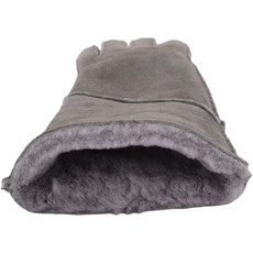 grey sheepskin gloves