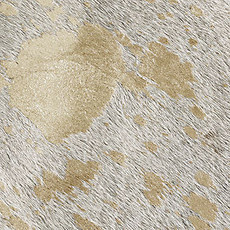 White and Gold Cowhide Rug