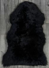 Black Single Sheepskin Rug