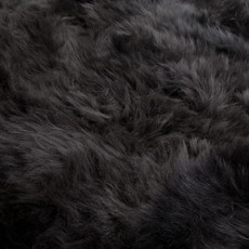 Slate grey quatro sheep skin rug