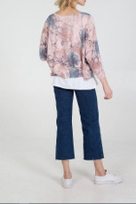 Double Layer Summer Top with Necklace in Pink