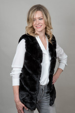 Luxury Faux Fur Gilet in Black NL5140