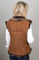Sheepskin Gilet in Rust