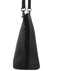 Suede Sholder Bag in Grey PB003