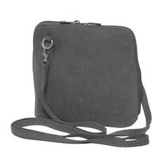 Suede Sholder Bag in Light Grey