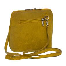 Suede Sholder Bag in Lemon