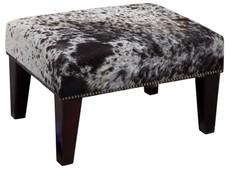 2ft x 1.5ft Cowhide Footstool / Ottoman FST763