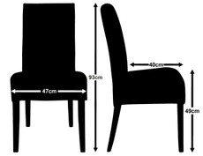 Kensington Dining Chair Measurements