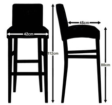 Large Savoy Barstool Measurements