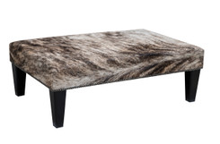 3ft x 2ft Cowhide Footstool FST824