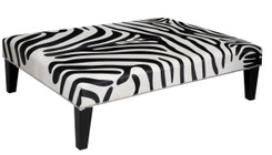 4ft x 3ft Cowhide Footstool FST959