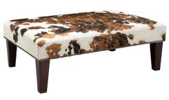 Cowhide Footstool / Ottoman