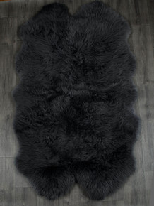 Black Quad Sheepskin Rug