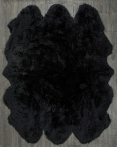 Black Sexto Sheepskin Rug