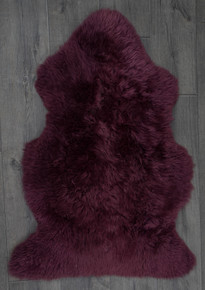 Plum Single Sheepskin Rug