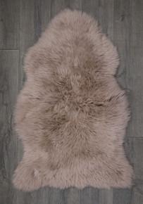 Light Taupe Single Sheepskin Rug