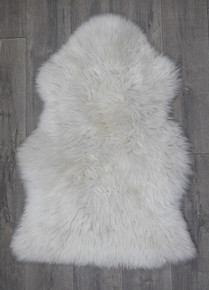 Ice Grey Single Sheepskin Rug