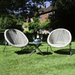 Foldable Stone Rattan Garden Furniture Set