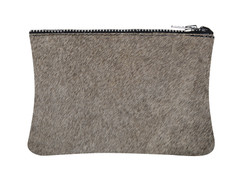 White & Grey Cowhide purse
