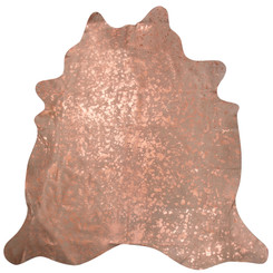 Rose Gold Metallic Cowhide Rug